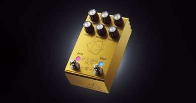 Jackson Audio Golden Boy new Guitar Pedal with MIDI support & flexible overdrive & MOSFET boost options