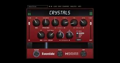 Eventide Audio Crystals Plugin for Pitch, Reverb, & Delay processing